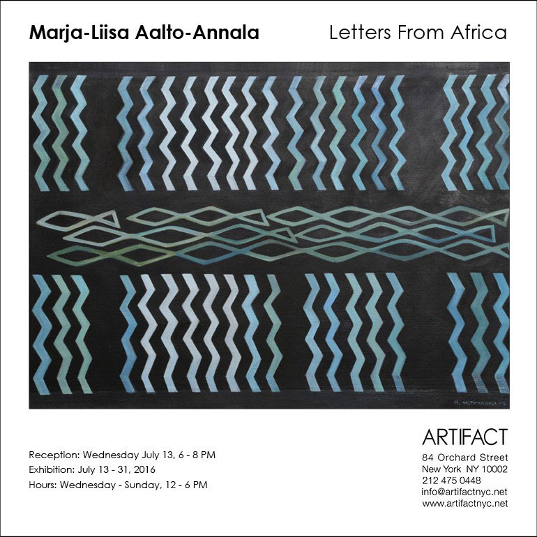 Aalto-Annala exhibition invite Artifact New York